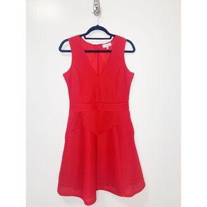 Reiss Topaz Ruby Topaz Red Dress with Pockets